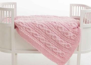 Как вязать своими руками одеяло для новорожденных