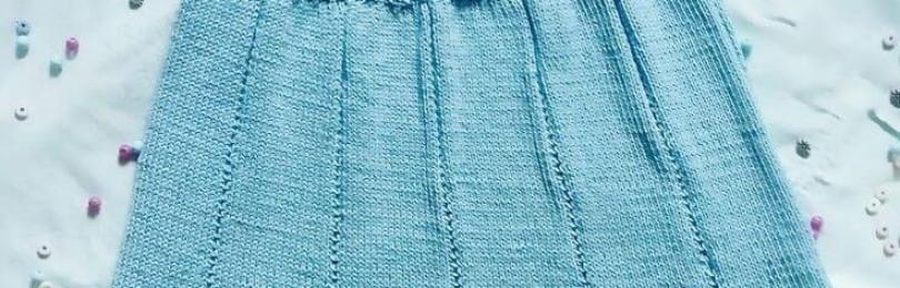 Ажурное вязаное платье для маленькой модницы